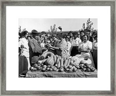 California Harvest Festival Framed Print by Underwood Archives