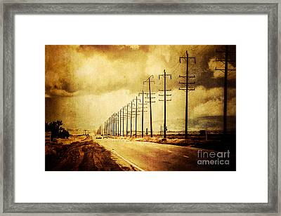 California Highway Framed Print by Pam Vick
