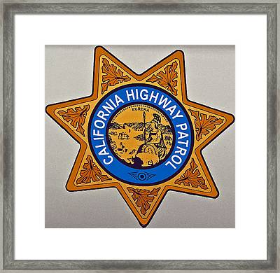 California Highway Patrol Framed Print