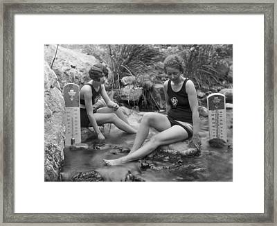 California Hot Springs Framed Print by Underwood Archives