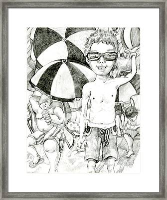 California Kid By Shine Kim 9th Grade Framed Print by California Coastal Commission