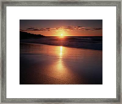 California, La Jolla, Sunset Framed Print