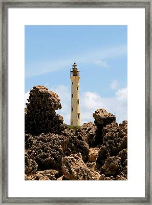 California Lighthouse Aruba Framed Print