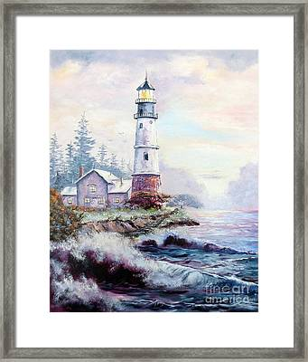 California Lighthouse Framed Print