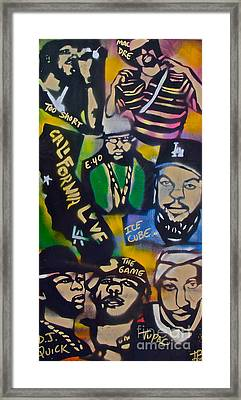 California Love Framed Print by Tony B Conscious