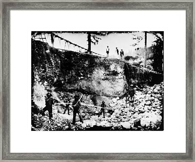 California: Mining, 1850s Framed Print by Granger
