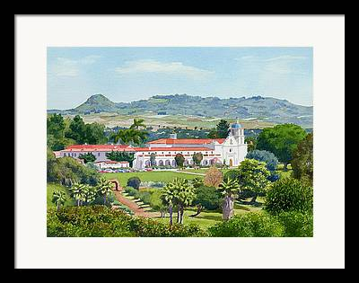 Historic Site Paintings Framed Prints