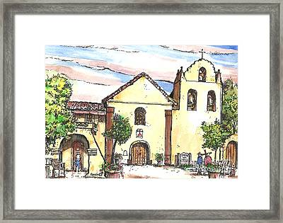 California Mission-santa Ines Framed Print