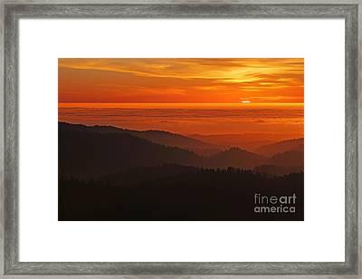 California Mountain Sunset Framed Print by Matt Tilghman