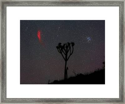 California Nebula And Pleiades Framed Print by Babak Tafreshi