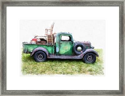 California Or Bust Framed Print by Edward Fielding