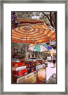 California Oranges Framed Print by Miriam Danar