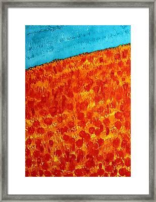 California Poppies Original Painting Framed Print