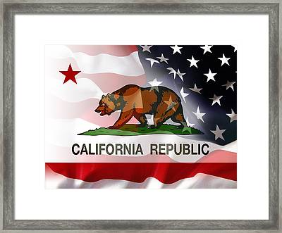 California Republic Within The United States Framed Print