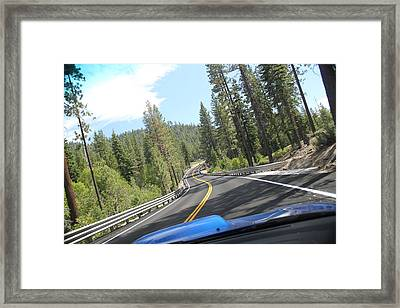 California Road Framed Print by Dean Drobot