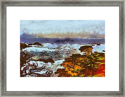 California Seascape Framed Print by Barbara Snyder