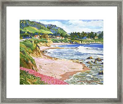 California Shores Framed Print by David Lloyd Glover