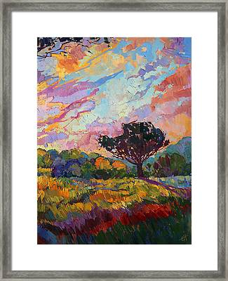 California Sky Quadtych - Lower Right Panel Framed Print