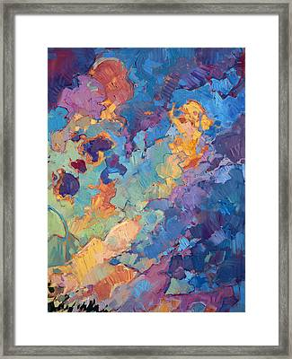 California Sky Quadtych - Upper Right Panel Framed Print by Erin Hanson