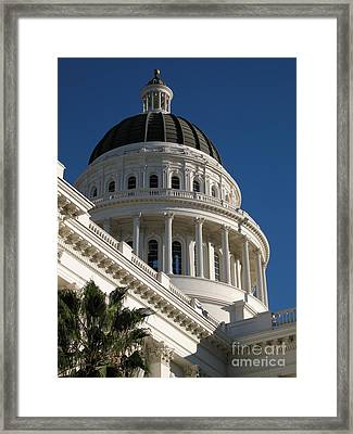 California State Capitol Dome Framed Print
