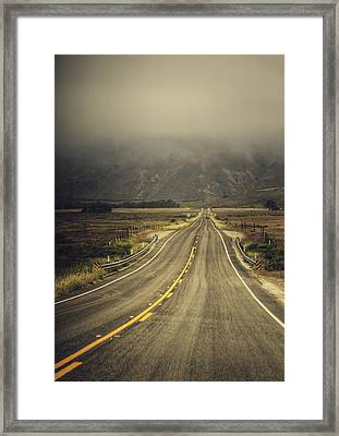 California State Route 1 Framed Print by Kenny Noddin