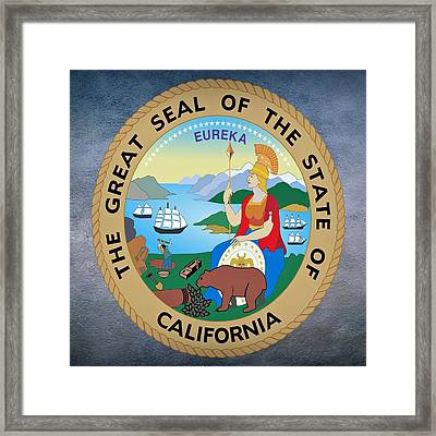 California State Seal Framed Print by Movie Poster Prints