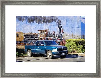 California Steamin' Framed Print by Andrea Simon