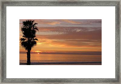 California Sunset Framed Print