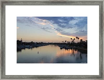 California Sunset Framed Print by Heidi Smith