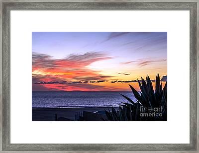 California Sunset Framed Print by Mike Ste Marie