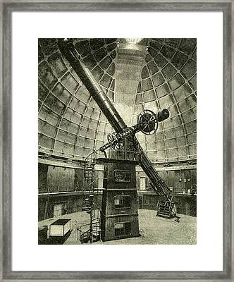 California The Largest Telescope In The World 1891 Usa Framed Print by English School