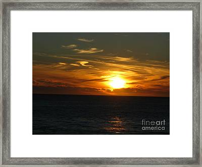California Winter Sunset Framed Print