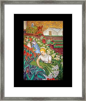 California Women And Flowers Framed Print by Joseph Coulombe