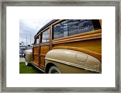 California Woodie Forever Young Framed Print by Bob Christopher