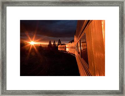 California Zephyr Sunset Framed Print by Ryan Wilkerson