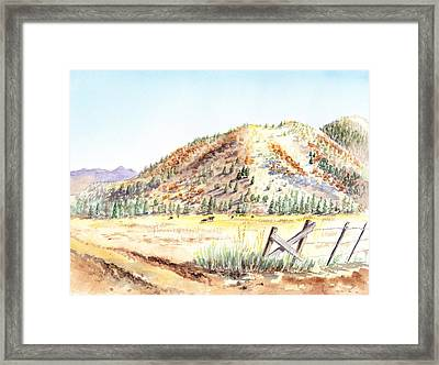 Californian Landscape Saint John Ranch Bald Mountain View Shasta County Framed Print by Irina Sztukowski