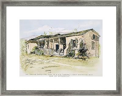Californian Ranch, 1890 Framed Print by Granger