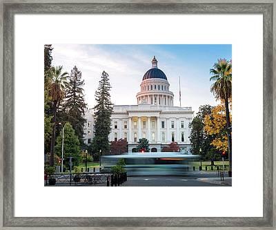Californias Capital Framed Print by Janet Kopper