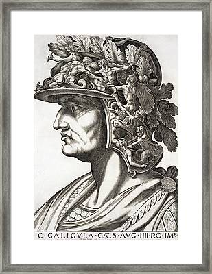 Caligula Caesar , 1596 Framed Print by Italian School