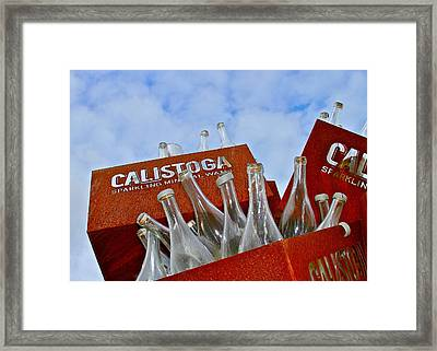 Calistoga Bubbles Framed Print by Michael Blesius