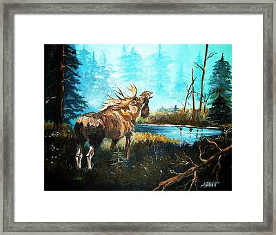 Framed Print featuring the painting Call In The Mist by Al Brown