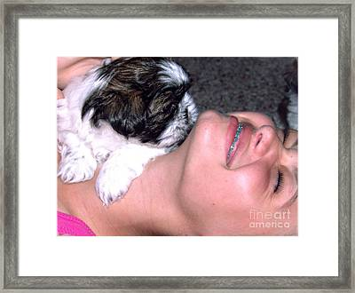 Call It Puppy Love Framed Print by Ella Kaye Dickey