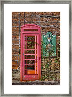 Call Me - Abandoned Phone Booth Framed Print by Kay Pickens