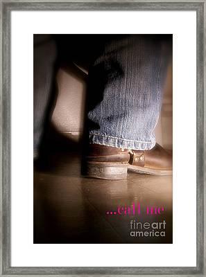 Call Me Framed Print by Corey Garcia