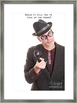 Call Me Framed Print by Edward Fielding