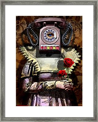 Call Me Sometime Framed Print by Larry Butterworth