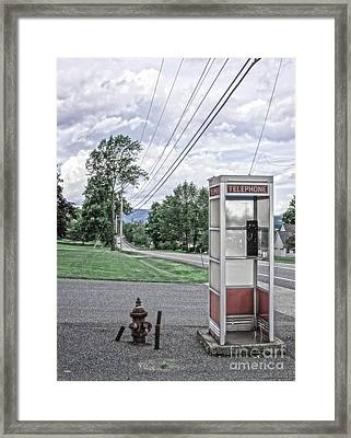 Call Me When You Get There Framed Print by Edward Fielding