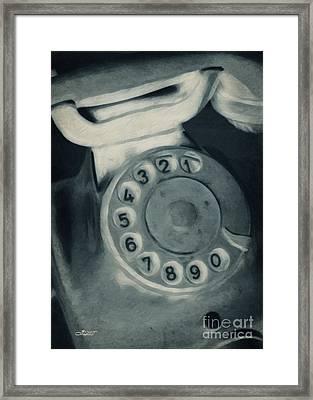Call Me Yesterday Framed Print by Jutta Maria Pusl