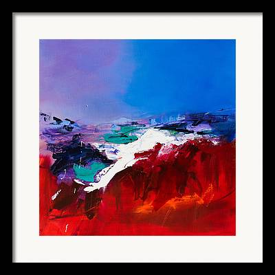 Shades Of Red Paintings Framed Prints