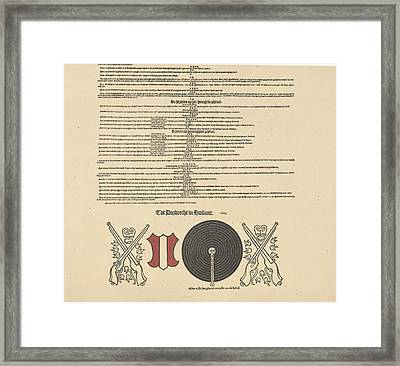 Call Register For Target Shooting And Lottery Framed Print by Anonymous